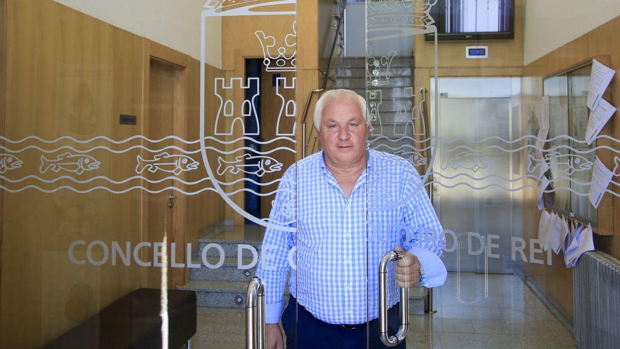 El alcalde de Outeiro de Rei, José Pardo, en una foto de archico