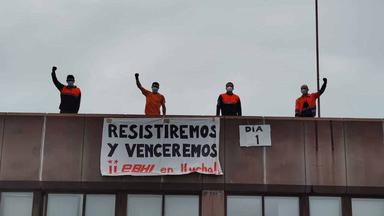 Los cuatro trabajadores encerrados en las instalaciones de la EBHI