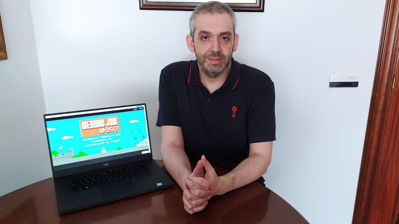 El profesor Antonio Seoane es uno de los impulsores del encuentro de desarrolladores de videojuegos Meninas Jam