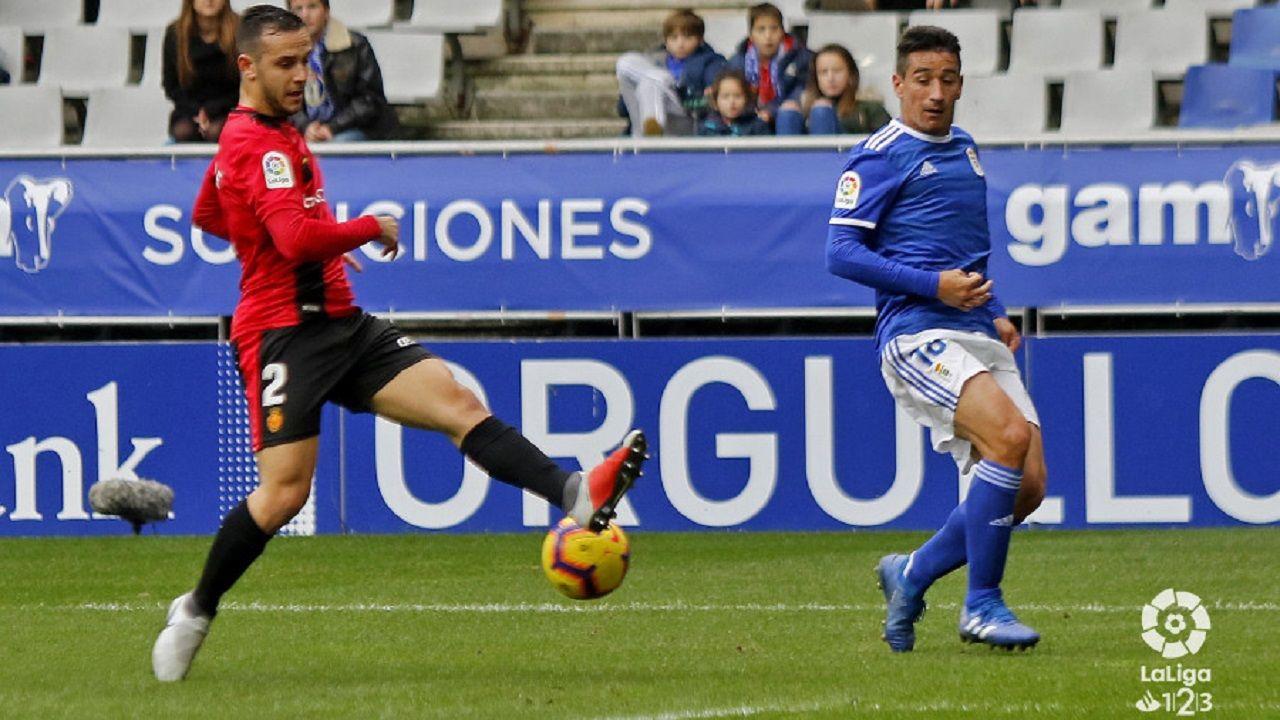 Saúl Berjón en el Real Oviedo-Mallorca