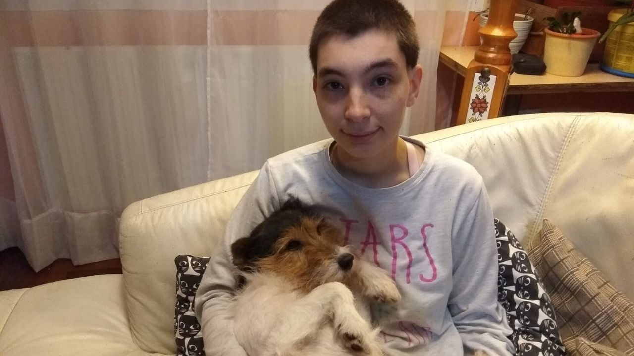 La veterinaria Paloma Herráez tiene a Yanko en acogida desde marzo