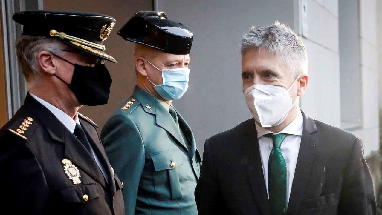 El ministro del Interior, Fernando Grande-Marlaska, este viernes, en San Sebastián