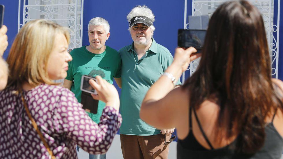 Almodóvar, durante su visita a Redes el mes pasado