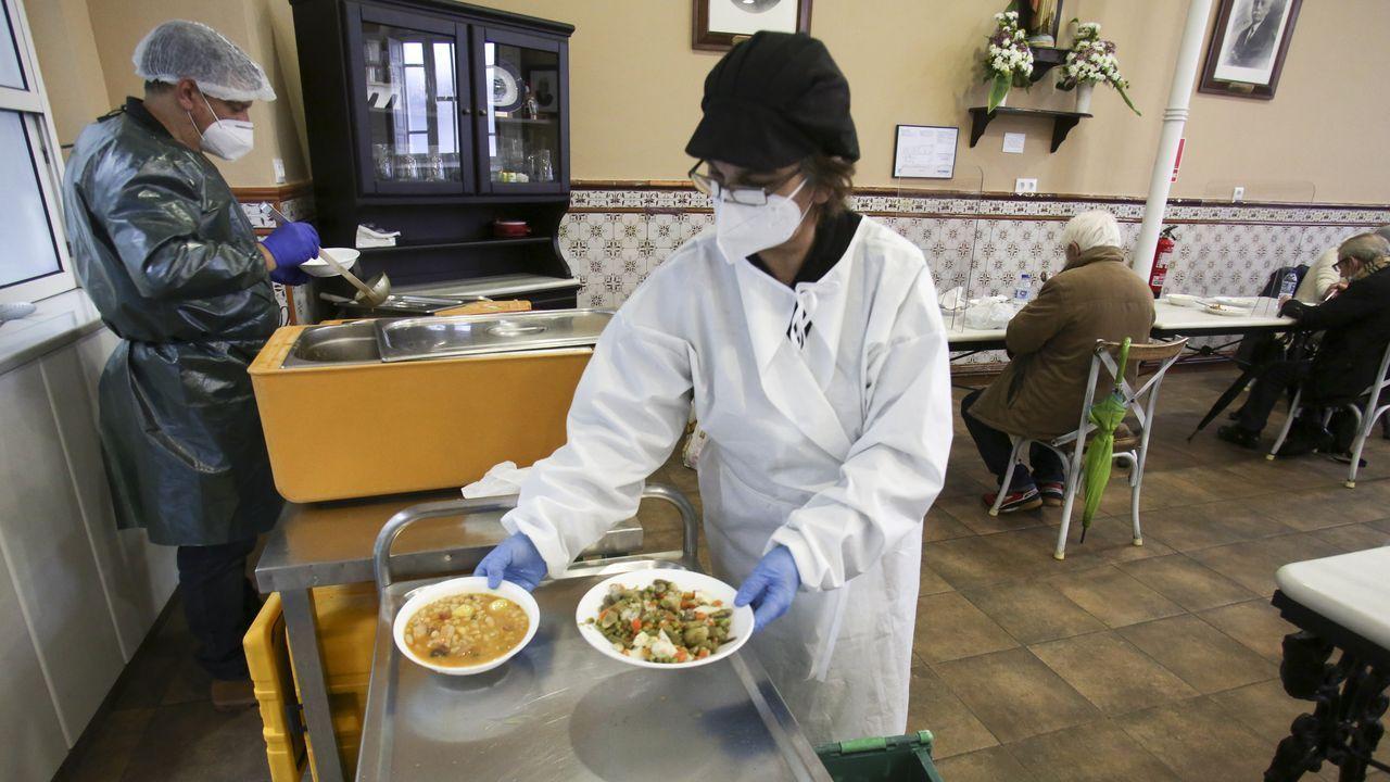 La Cocina Económica de Ferrol, en una imagen tomada el pasado martes
