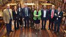 El equipo rectoral de Santiago García Granda, en la biblioteca del edificio histórico de la Universidad de Oviedo