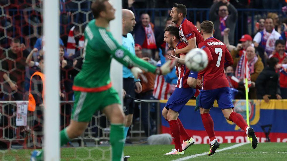 El Atlético de Madrid-Bayern, en fotos