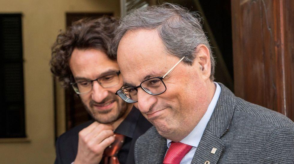 Alfred Bosch, a la izquierda, en un acto con Quim Torra