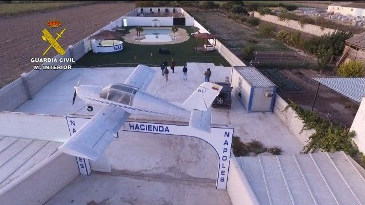 La Hacienda de la organización polaca de narcotráfico desarticulada en Granada
