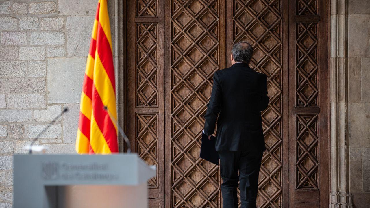 Como eurodiputados no adscritos, Toni Comín y Carles Puigdemont seguirán ubicados en la última fila del hemiciclo