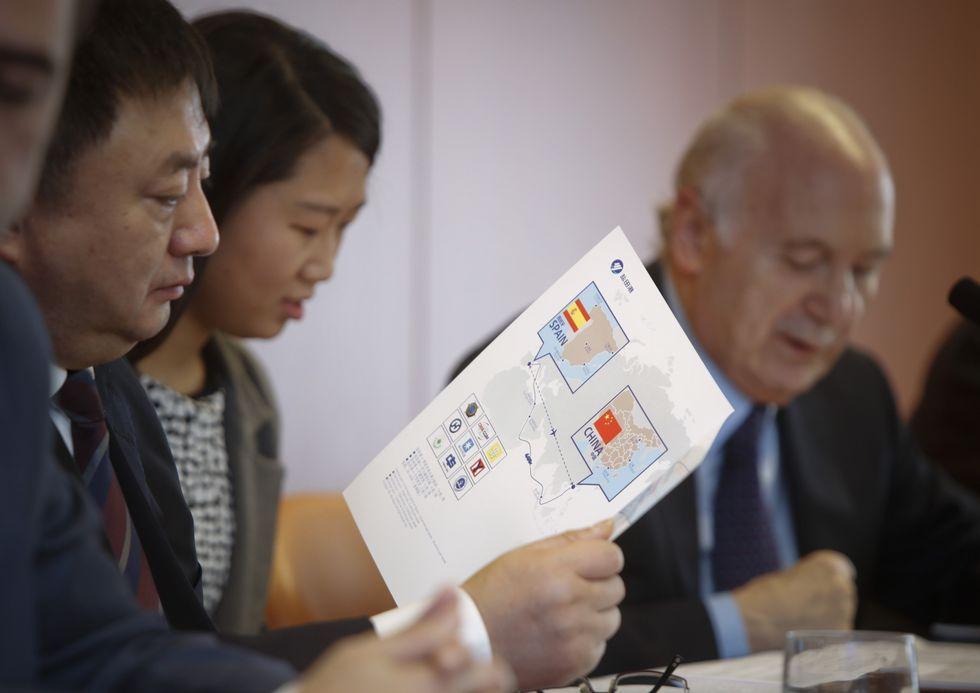 La delegación china se reunió con los empresarios coruñeses.
