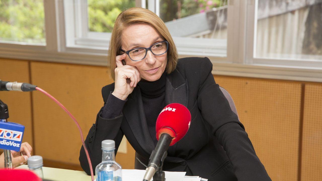 Mitin de Pedro Sánchez en Ourense.La portavoz del PSOE larachés, Palomi Rodriguez