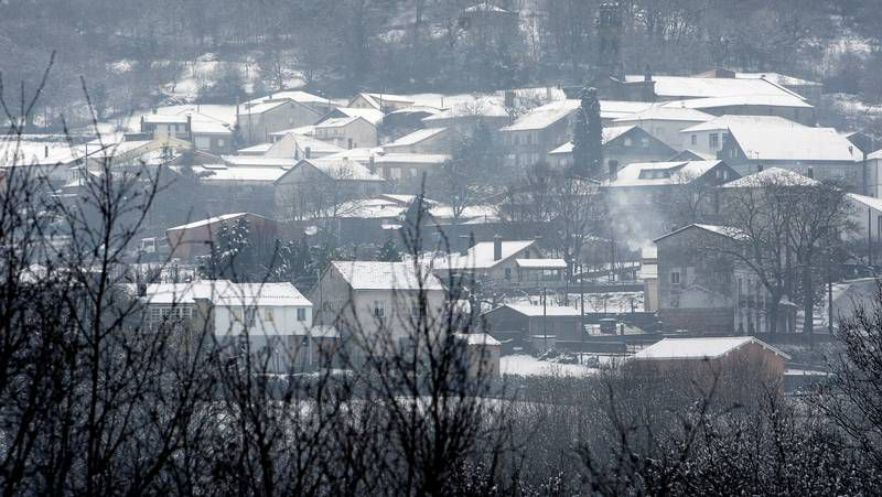 Intensas nevadas en la montaña gallega