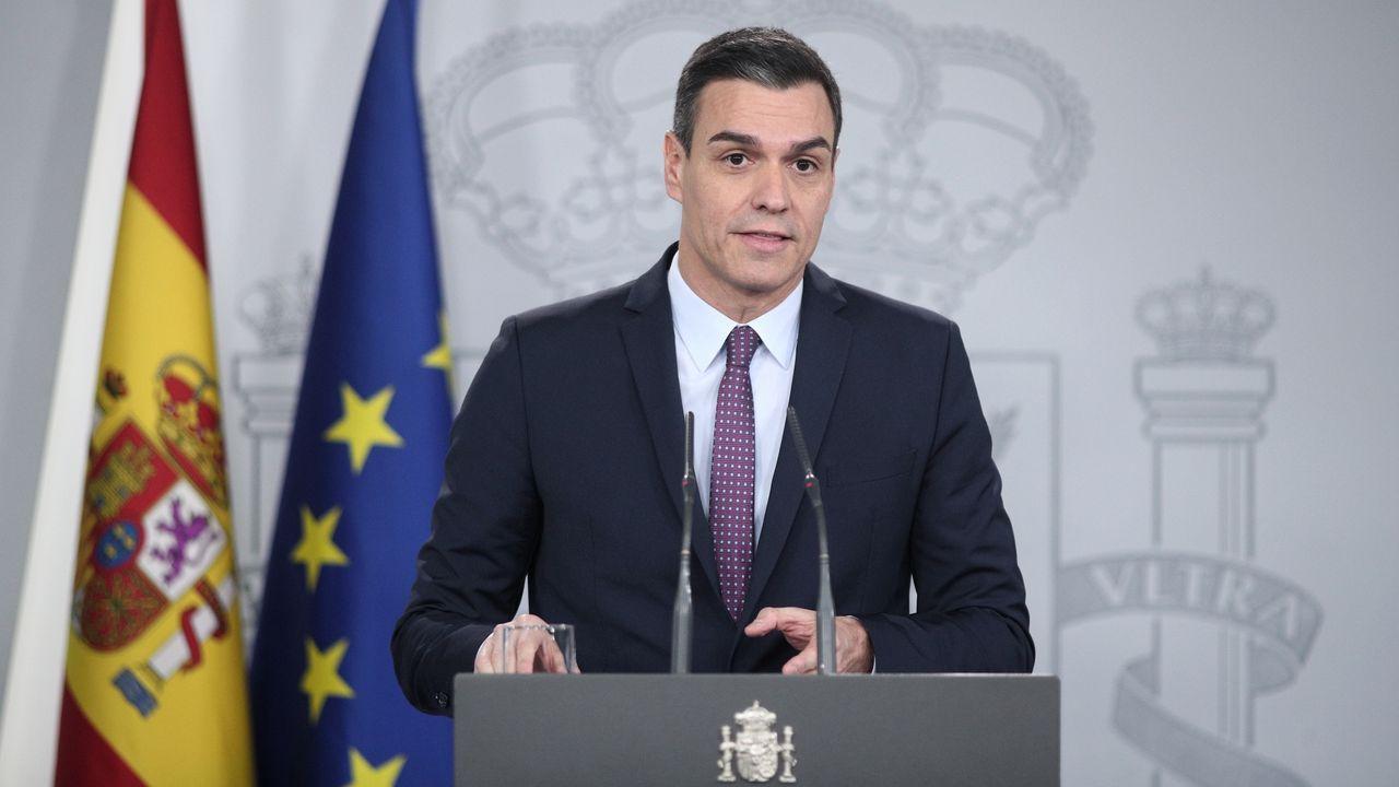Rueda de prensa de Pedro Sánchez tras el primer Consejo de Ministros.Detención de una banda de aluniceros en Madrid, en una imagen de archivo