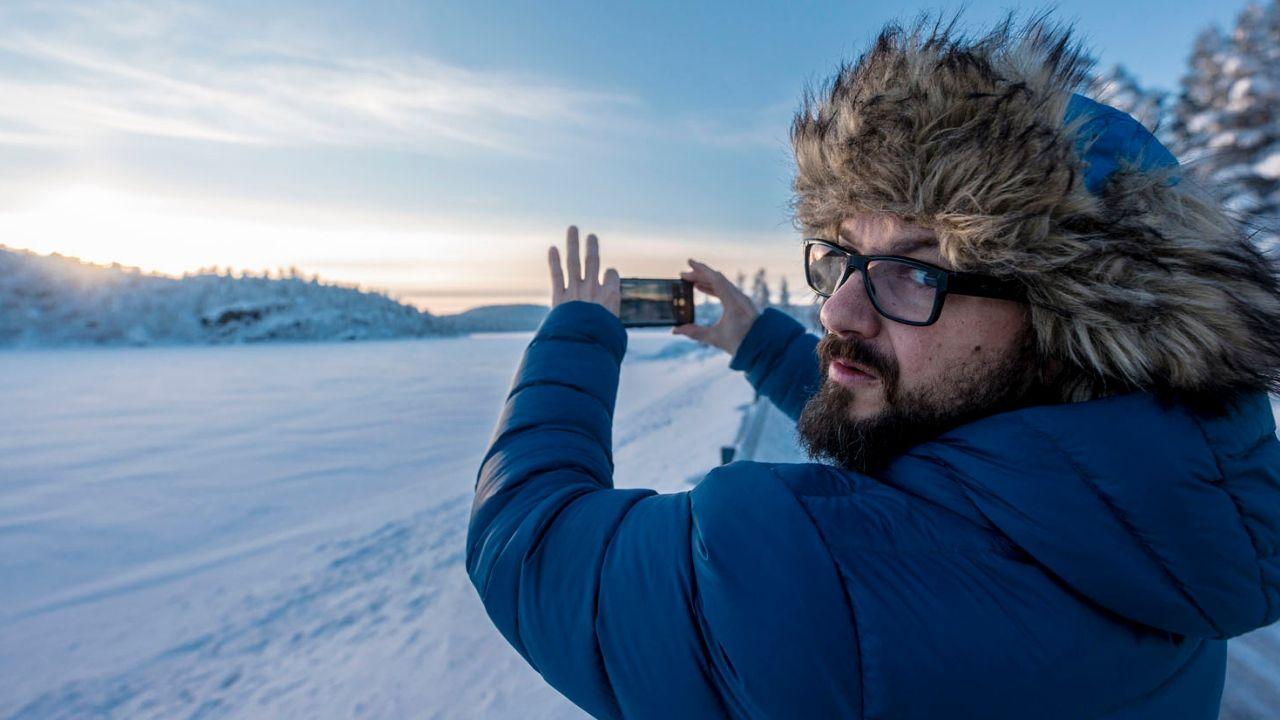 Carlos López, gijonés que vive en Laponia.El gijonés Carlos López, que vive en Laponia desde hace 18 años