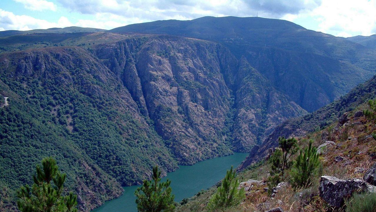Canón do Sil: Esta ruta de 18 kilómetros y dificultad media pasa por el Monasterio de Santa Cristina, una visita recomendable.