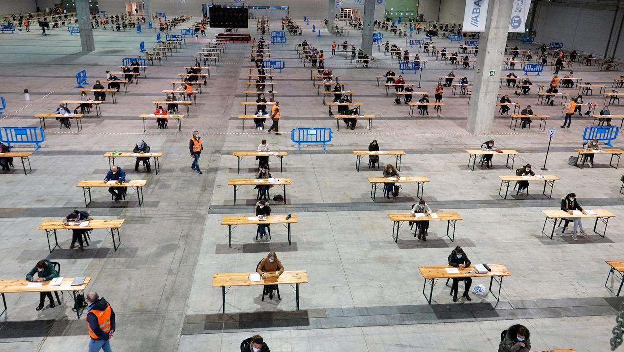 Exámenes celebrados en octubre en Silleda, bajo el protocolo sanitario contra el covid-19