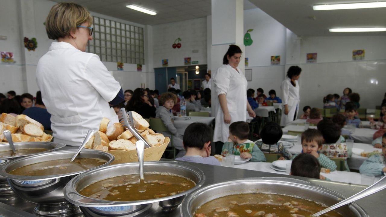 Imagen de un curso anterior del comedor del Ceip Santa Rita de Galdo en Viveiro