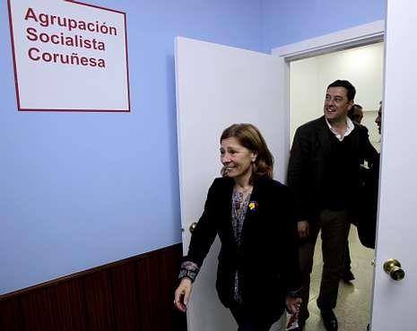 Margallo.Las primarias del PSOE serán claves para el futuro de Besteiro; en la foto, con Barcón.