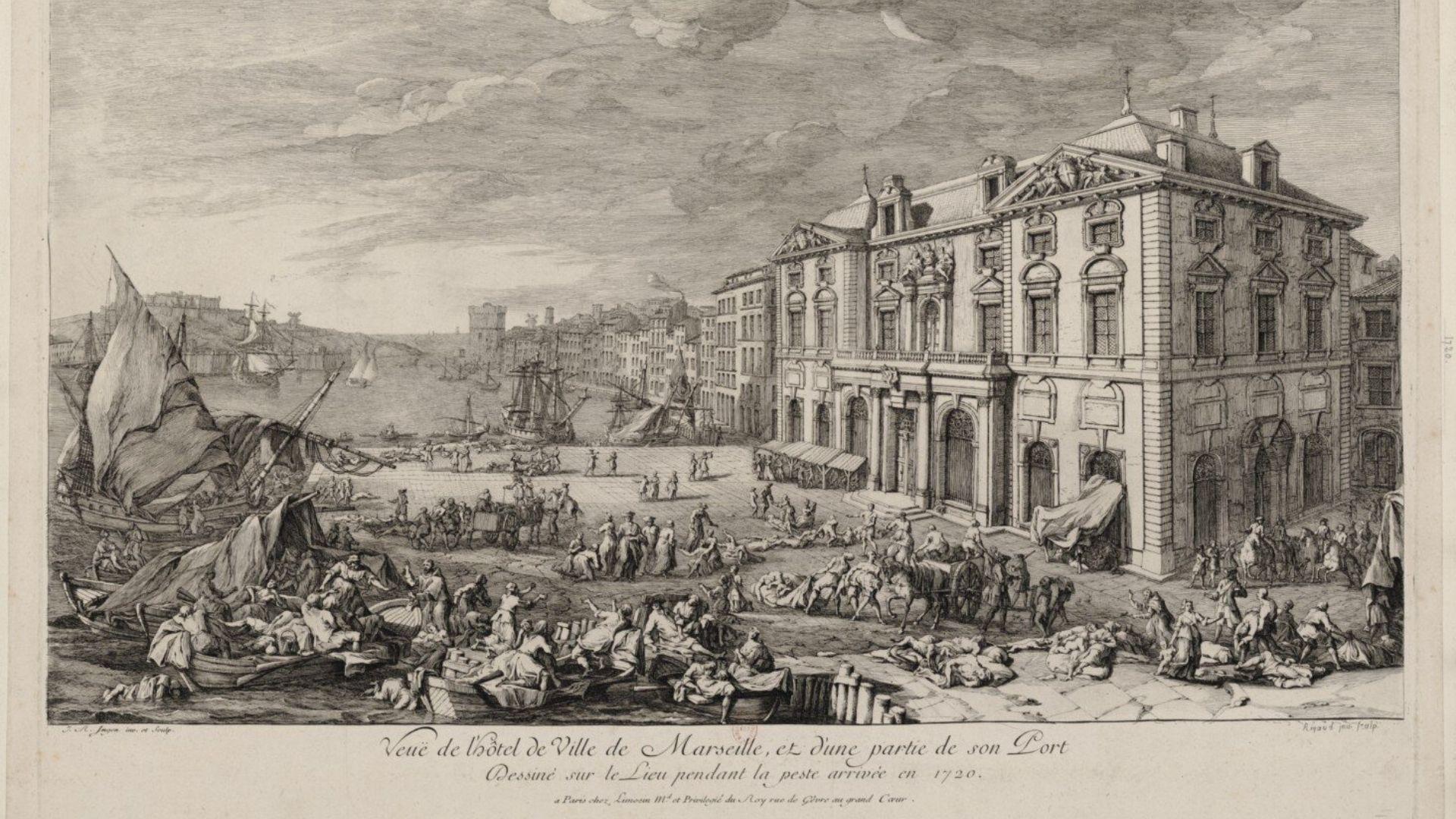 La Peste de Marsella. Años 1720-1722. Último brote de peste bubónica que afectó a la Europa occidental, con incidencias demográficas únicamente en la baja Provenza y el Languedoc. Venida de Oriente, Marsella, con su activo puerto comercial, fue la ciudad más afectada. Causó 120.000 muertos.