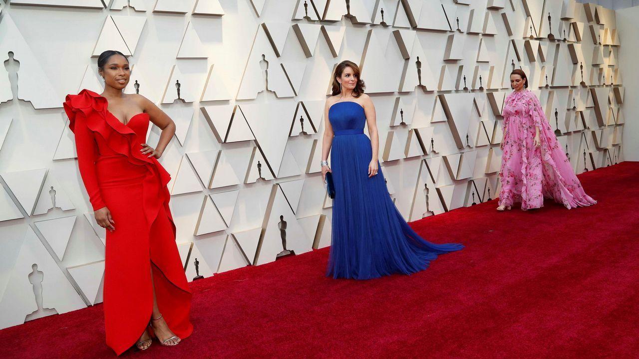 Jennifer Hudson, Tina Fey y Maya Rudolph, en la alfombra roja