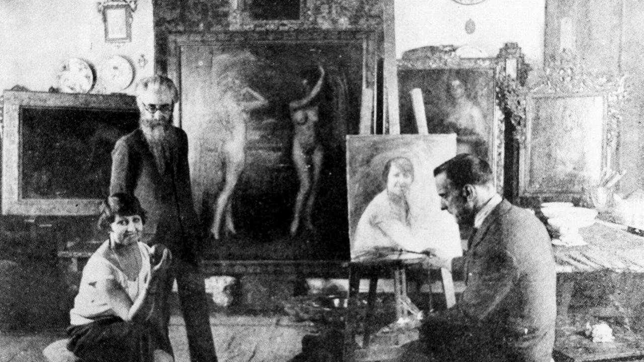 Valle-Inclán, en el estudio de un pintor