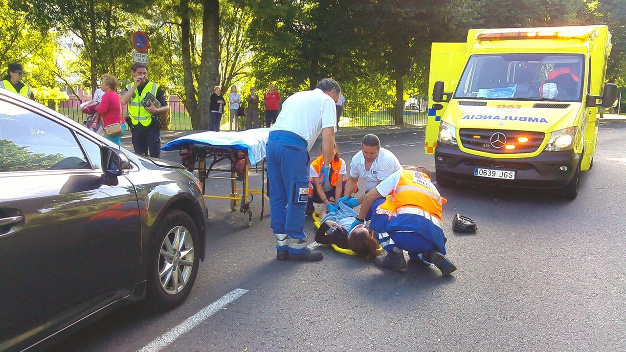 El atropello se produjo en la avenida de Castelao, antes de la rotonda de San Caetano