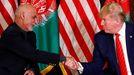 Donald Trump y Ashraf Ghani, en una imagen de archivo
