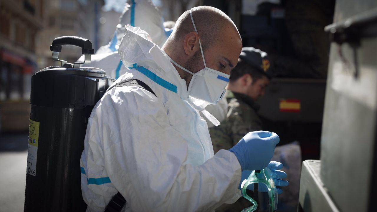 Fernando Simón cifra en 13.716 contagiados por coronavirus y 558 fallecidos.Cristina Enjo, enfermera de uci