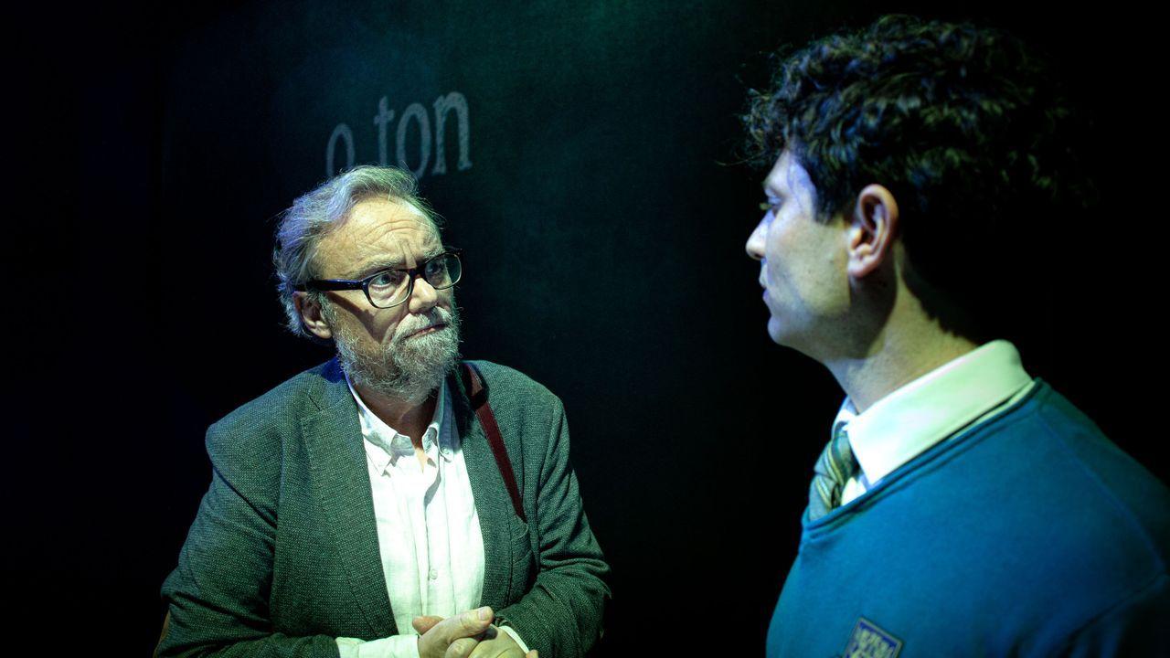 Una escena da obra «O mozo da última fila», da compañía Redrum Teatro, que se representarrá en Monforte o 28 de xaneiro