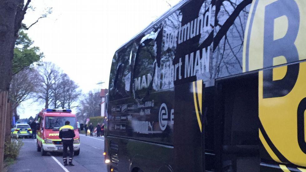 Aubameyang, evacuado del autobús tras el suceso