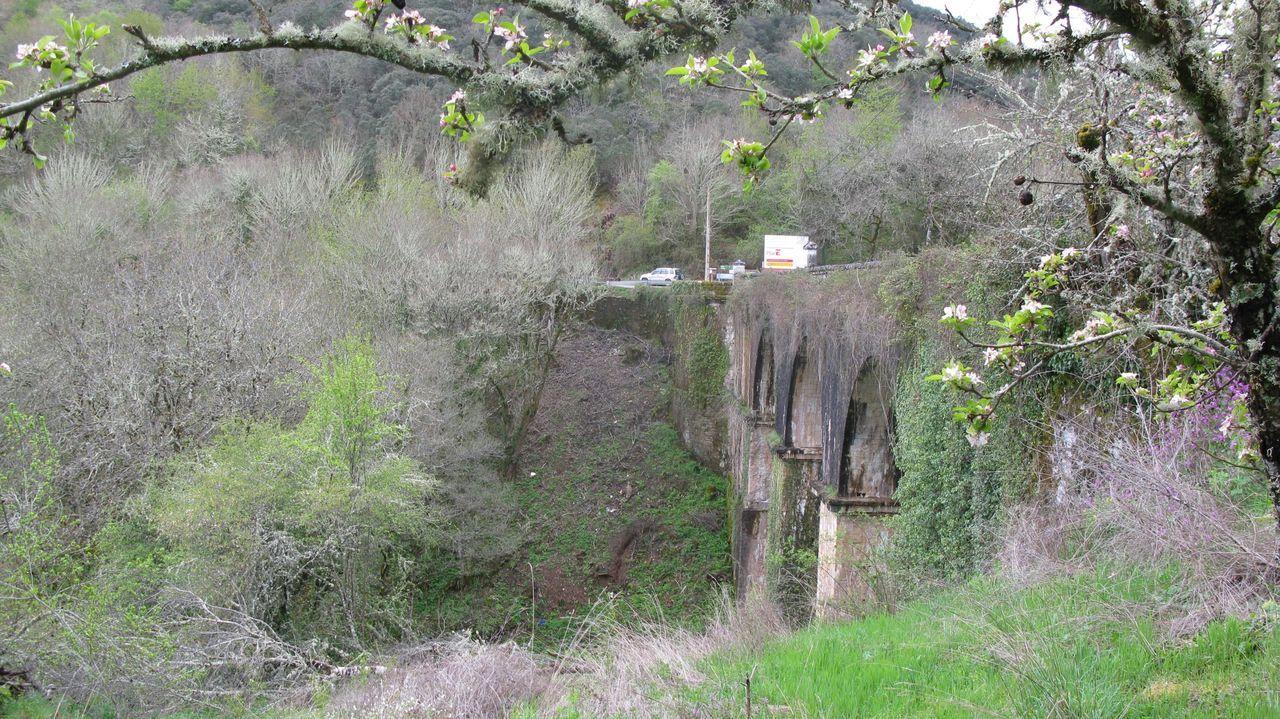 Puente de Cruzul, entre Becerreá y As Nogais