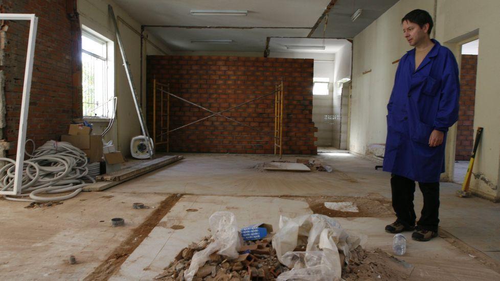 Imagen de arhivo de unas obras en el interior del centro de formación agraria de Monforte
