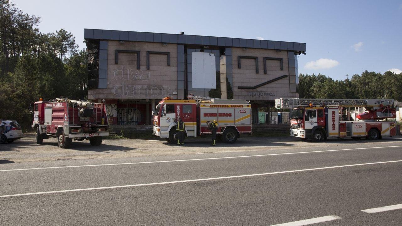 Uno de los focos del incendio declarado el pasado mes de mayo en la Sierra de Sollera, en los concejos de Grado, Candamo y Salas.