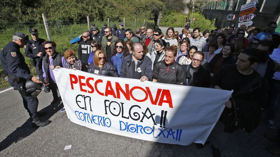 Manifestación de trabajadores de Pescanova en Vigo