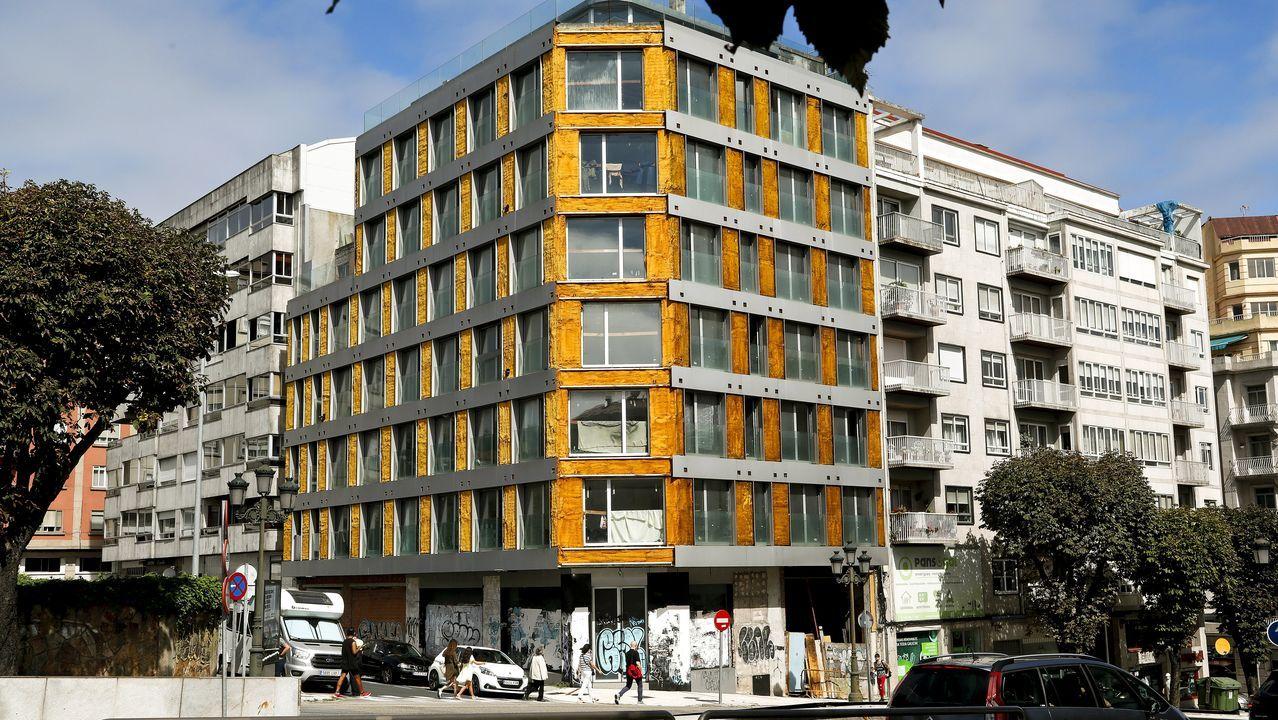 Edificio ocupado en el centro de Vigo