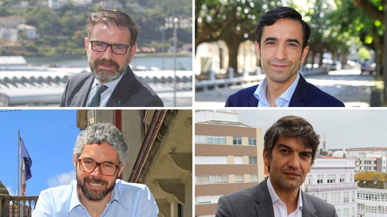 Ángel Mato, Rey Varela, Iván Rivas y Jorge Suárez, por este orden, comenzando por la foto superior izquierda.