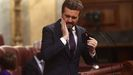 El líder del PP, Pablo Casado, durante el debate celebrado este miércoles en el Congreso