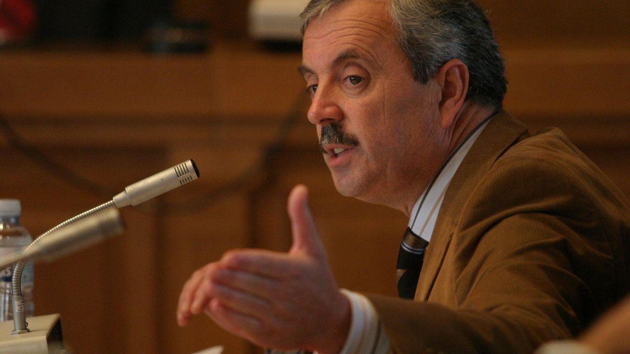Vázquez, en el año 2004, cuando era portavoz del PSOE en la Diputación