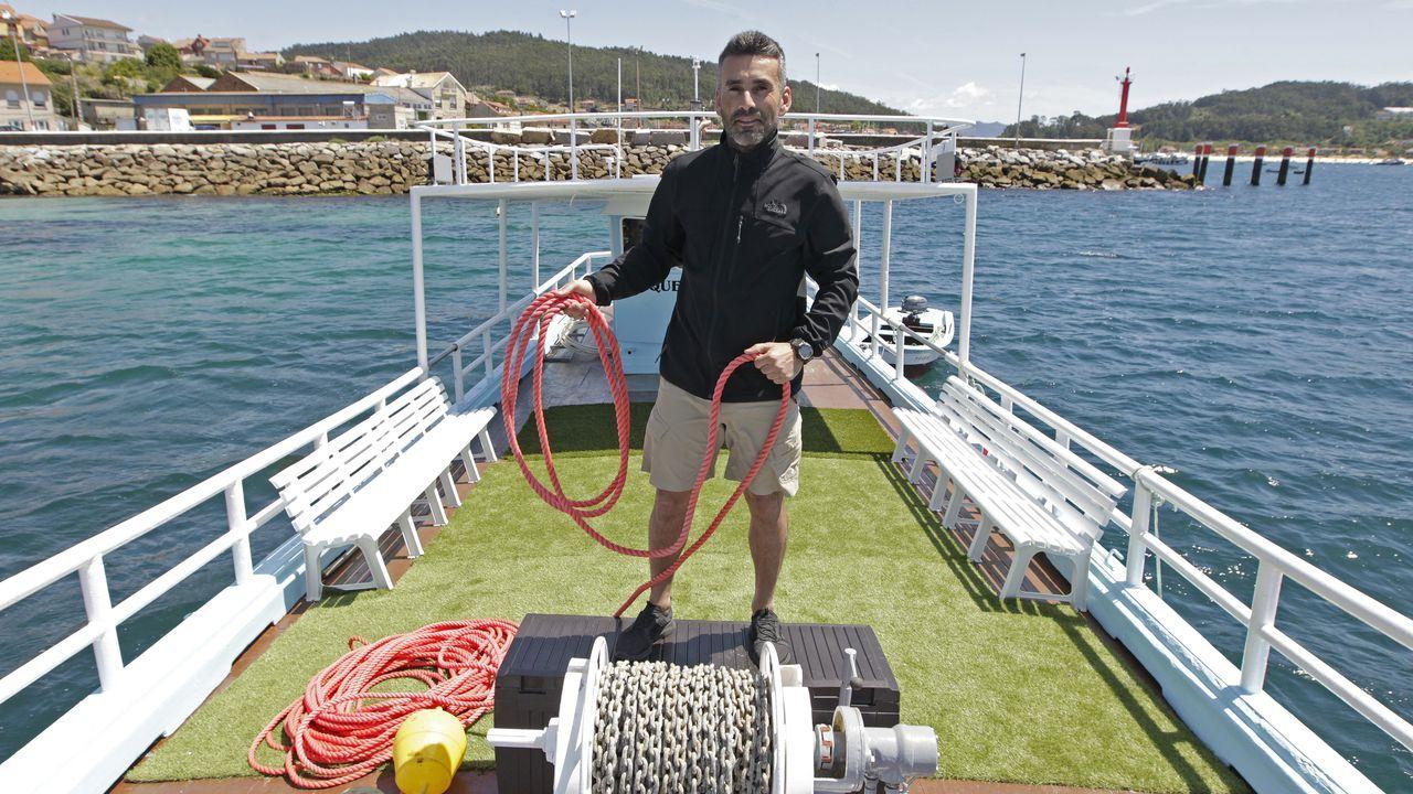 aldan.Fito Dacosta Piñeiro es el capitán de «O que faltaba», un antiguo barco bateeiro