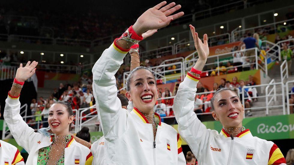 La plata de la gimnasia rítmica, en imágenes.La piragüista australiana Naomi Flood.