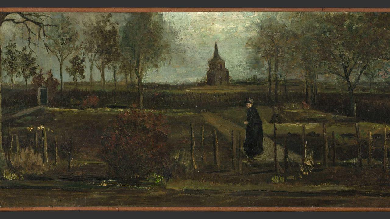 La obra «Jardín de primavera» fue pintada por Vincent Van Gogh en 1885, en Neuen