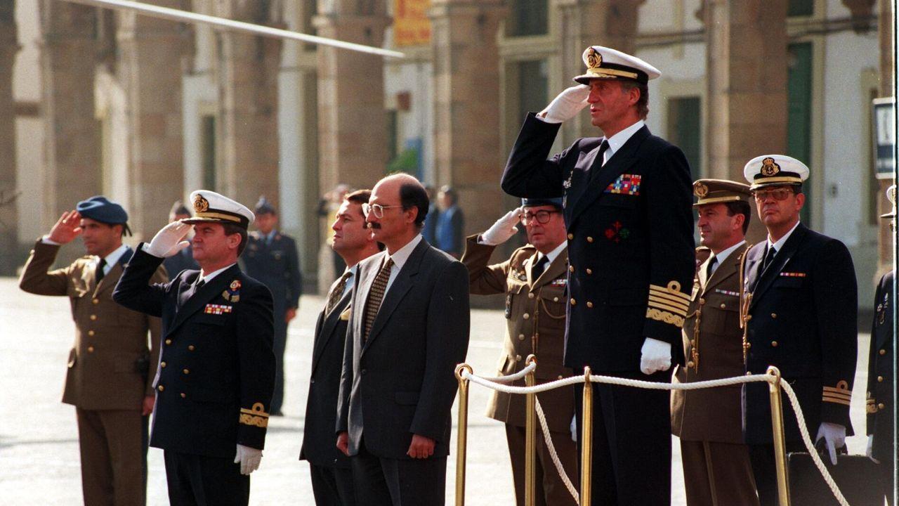 Visista del rey a Ferrol en octubre de 1994
