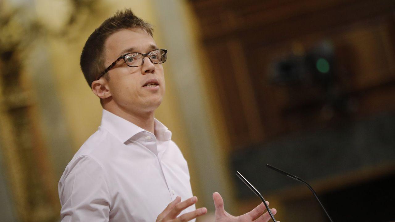 El líder de Más País, Íñigo Errejón, interviene en la última sesión plenaria en el Congreso de los Diputados antes del paréntesis estival, en Madrid, el pasado 21 de julio