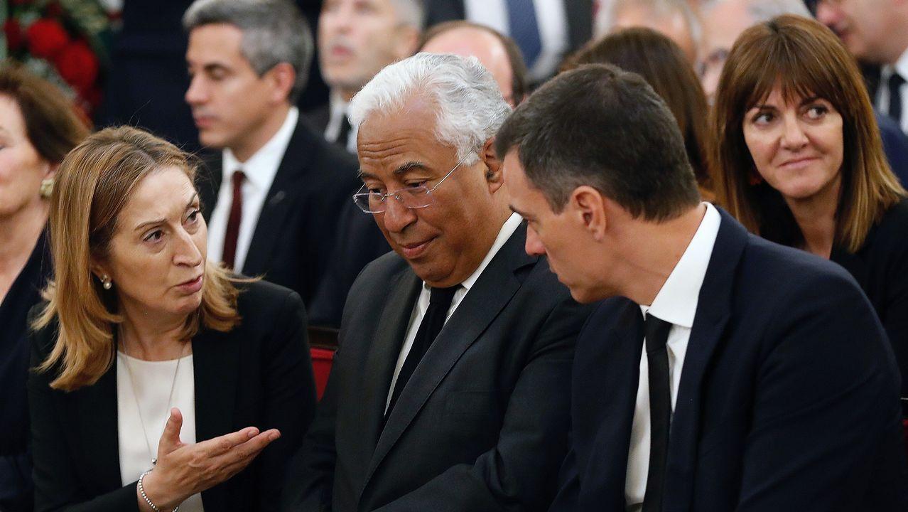 El primer ministro portugués, Antonio Costa, viajo a Madrid para visitar la capilla ardiente