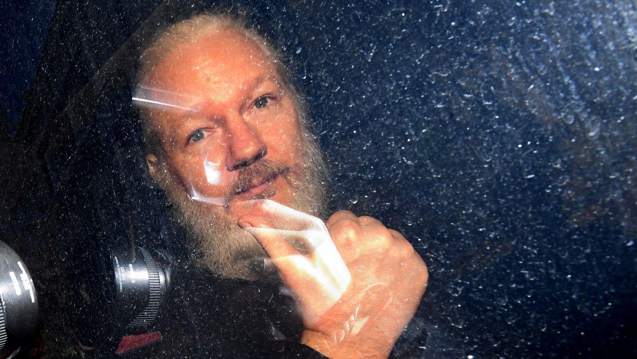 Manifestación por la liberación de Assange