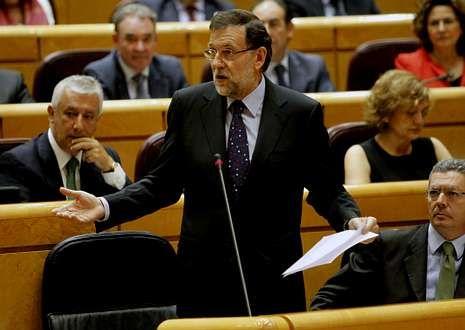 Boda del hijo de José Manuel Lara y Anna Brufau.Mariano Rajoy, ayer en el Senado durante la sesión de control al Gobierno.