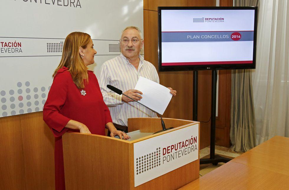 La presidenta, Carmela Silva, y el vicepresidente, César Mosquera, presentaron ayer el fondo.