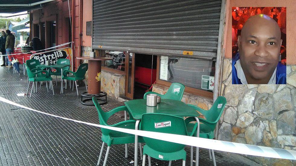 El bar donde fue apuñalado Daniel Capellán, en recuadro