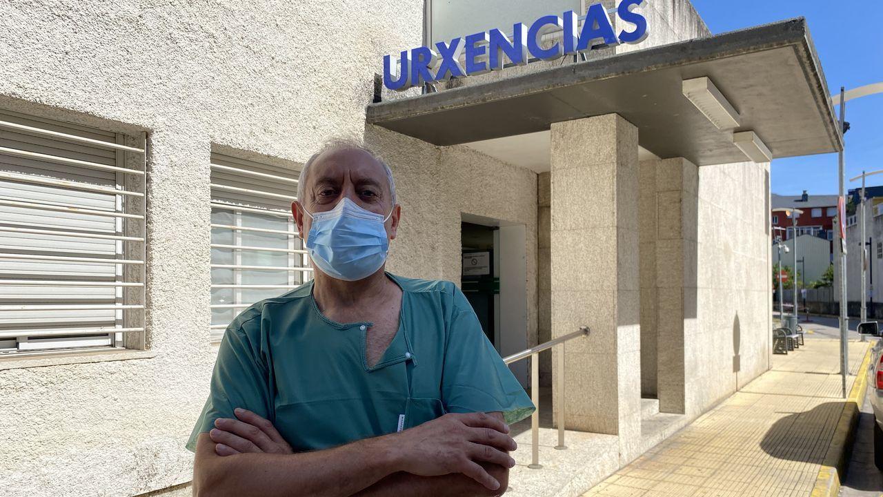 Eduardo López Vidal trabaja en el servicio de Urgencias del Hospital Comarcal de Valdeorras
