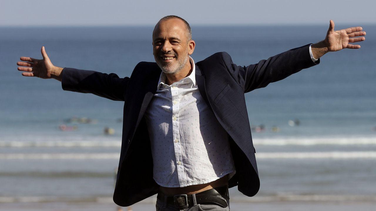 Estreno de la tercera temporada de «Estoy vivo».El actor Javier Gutiérrez, ayer en San Sebastián